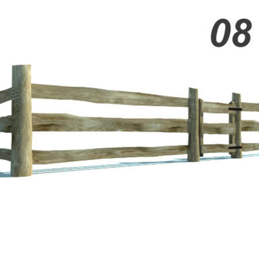 Drewniana kolekcja ogrodzeń royalty-free 3d model - Preview no. 24