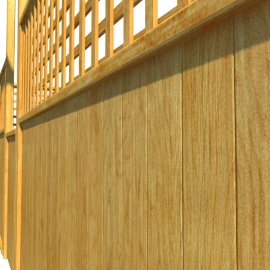 Drewniana kolekcja ogrodzeń royalty-free 3d model - Preview no. 23