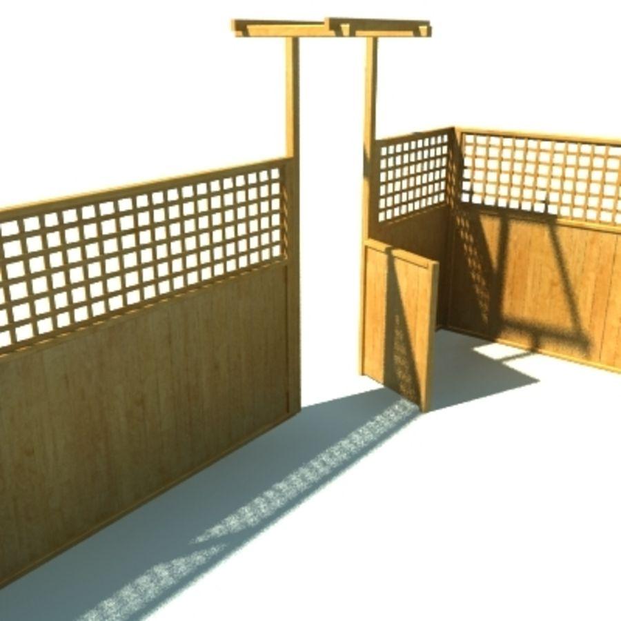 Drewniana kolekcja ogrodzeń royalty-free 3d model - Preview no. 38