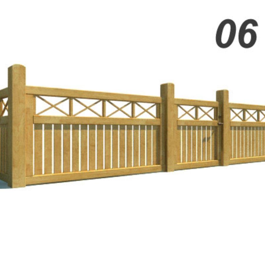 Drewniana kolekcja ogrodzeń royalty-free 3d model - Preview no. 17