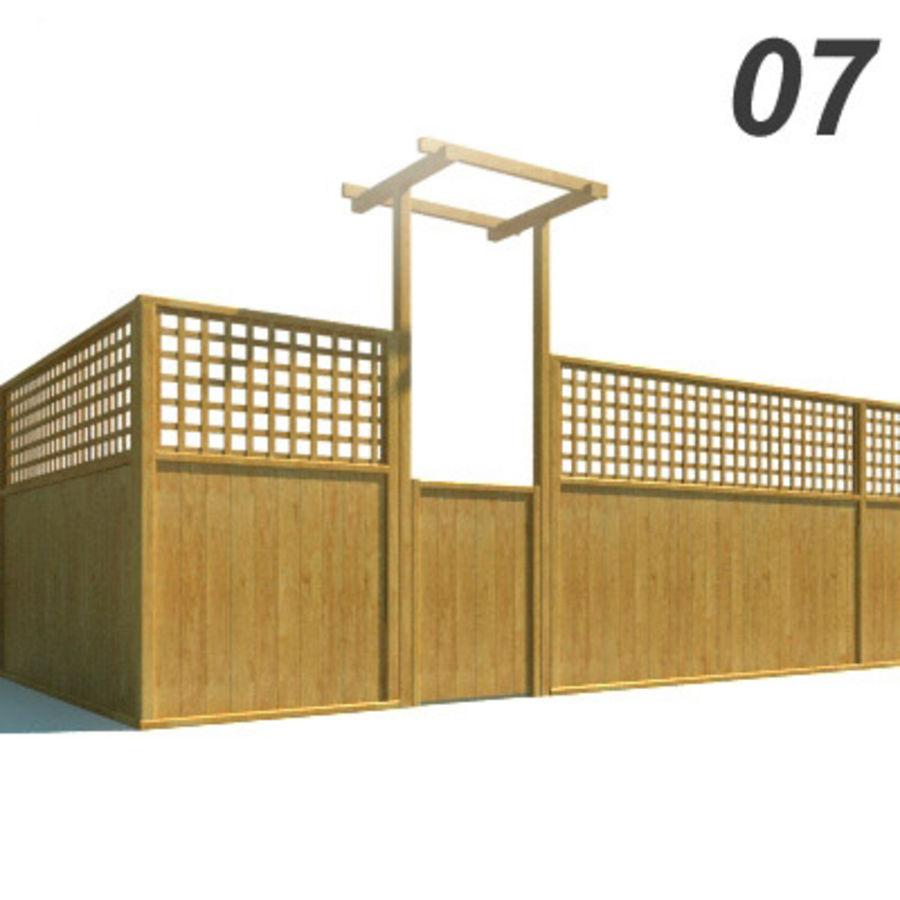 Drewniana kolekcja ogrodzeń royalty-free 3d model - Preview no. 22