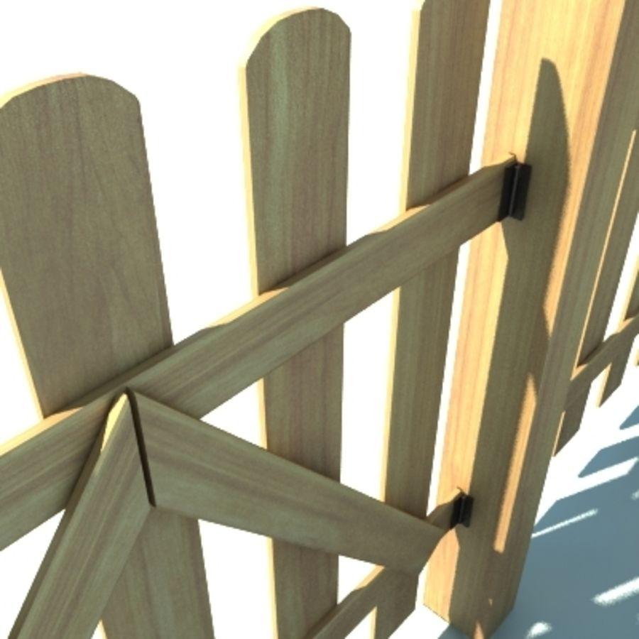 Drewniana kolekcja ogrodzeń royalty-free 3d model - Preview no. 5