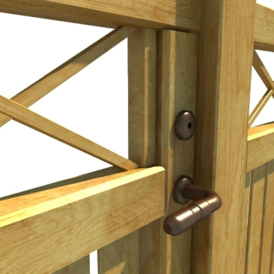 Drewniana kolekcja ogrodzeń royalty-free 3d model - Preview no. 18