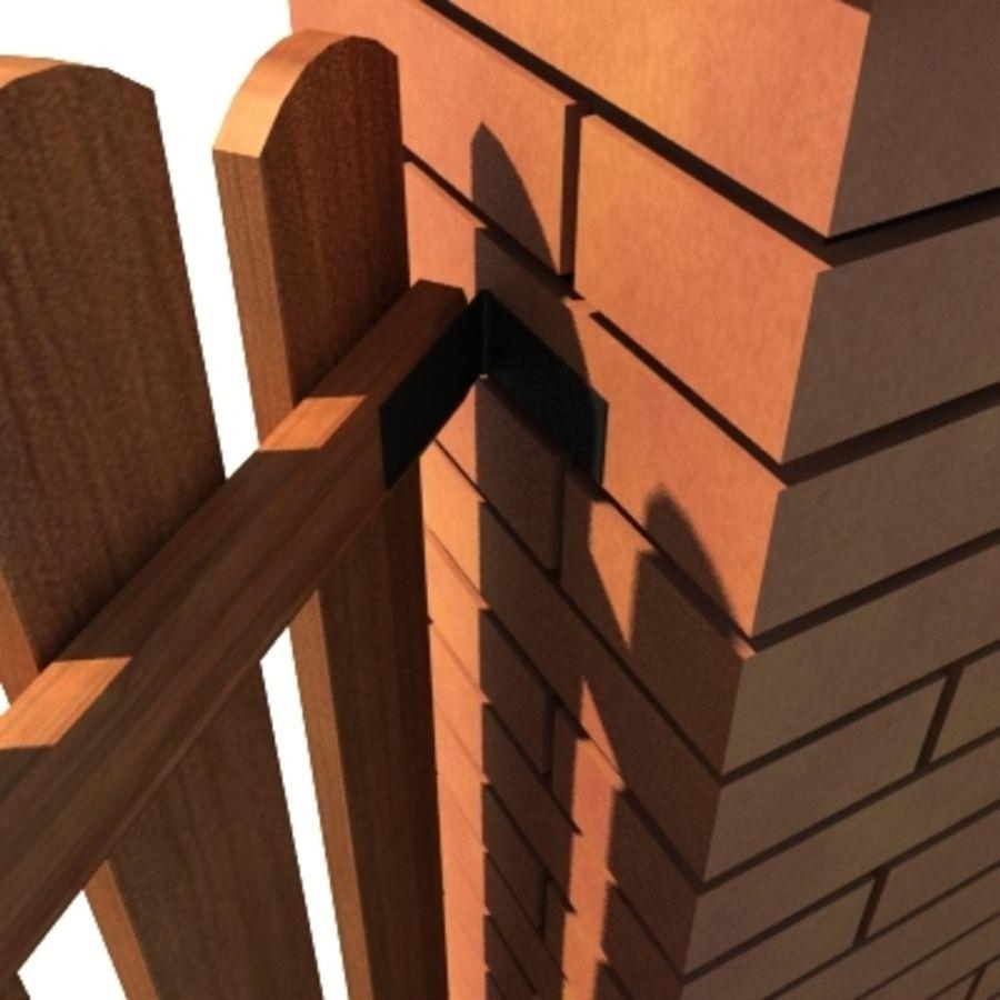 Drewniana kolekcja ogrodzeń royalty-free 3d model - Preview no. 39