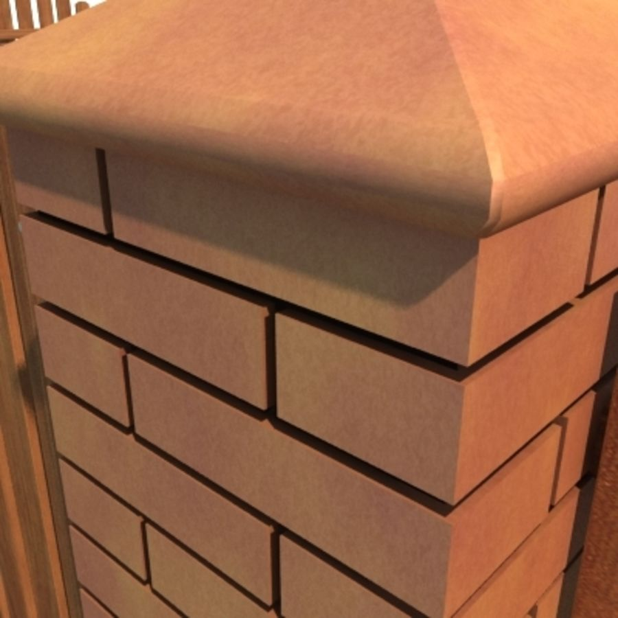 Drewniana kolekcja ogrodzeń royalty-free 3d model - Preview no. 33