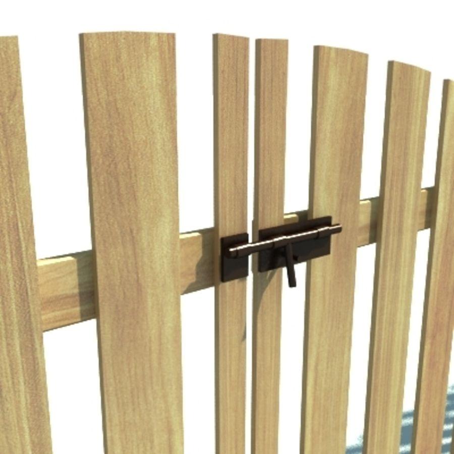 Drewniana kolekcja ogrodzeń royalty-free 3d model - Preview no. 16