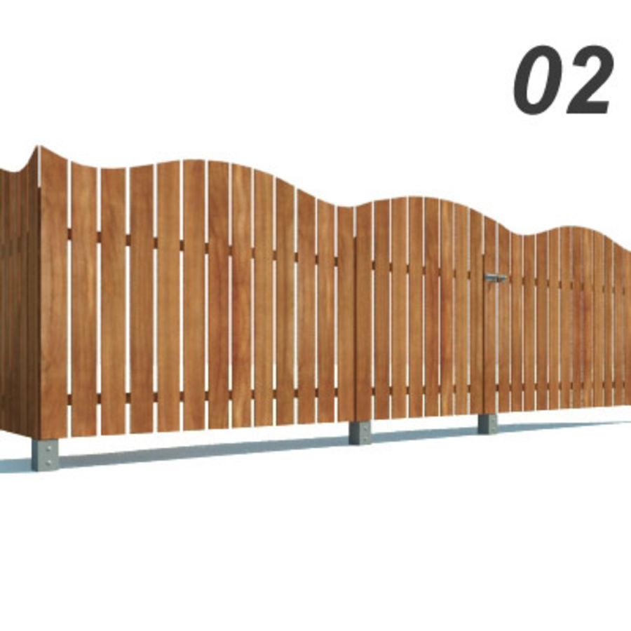 Drewniana kolekcja ogrodzeń royalty-free 3d model - Preview no. 6