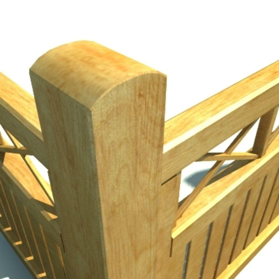 Drewniana kolekcja ogrodzeń royalty-free 3d model - Preview no. 20