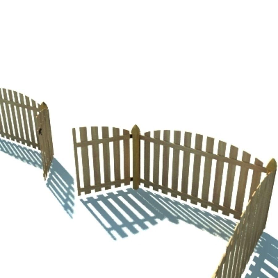 Drewniana kolekcja ogrodzeń royalty-free 3d model - Preview no. 36