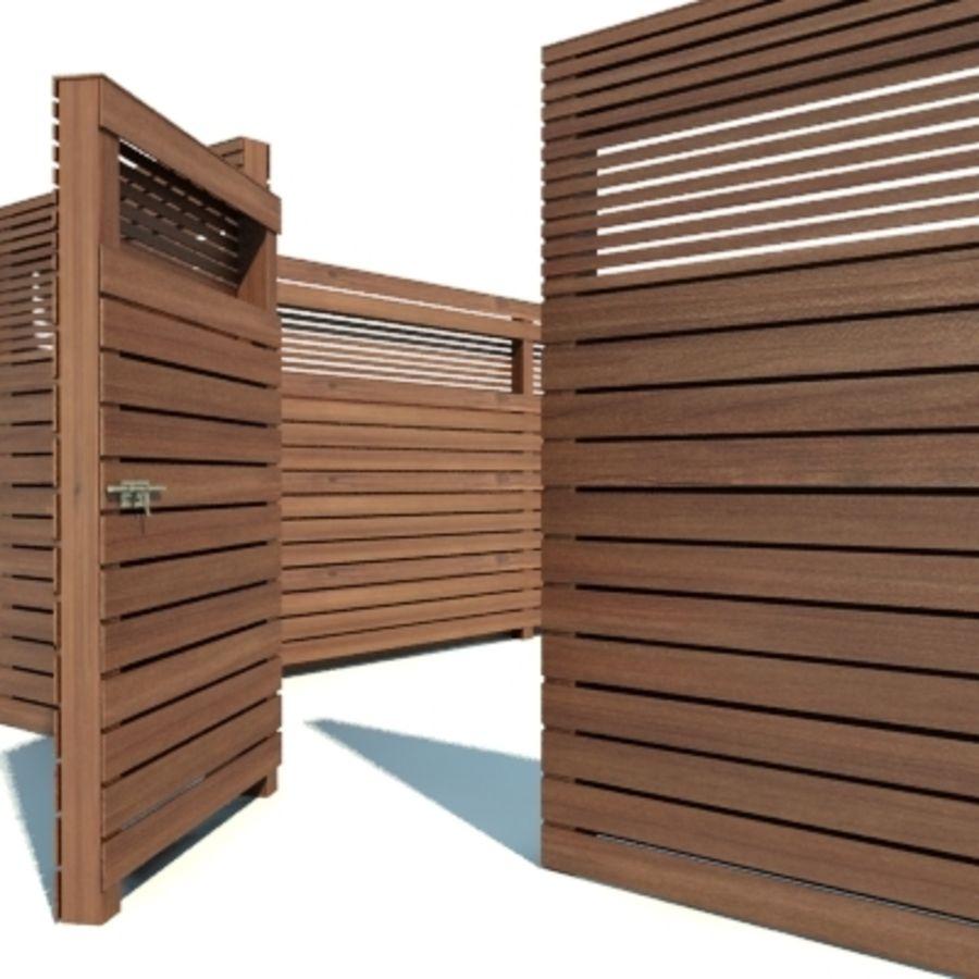 Drewniana kolekcja ogrodzeń royalty-free 3d model - Preview no. 10