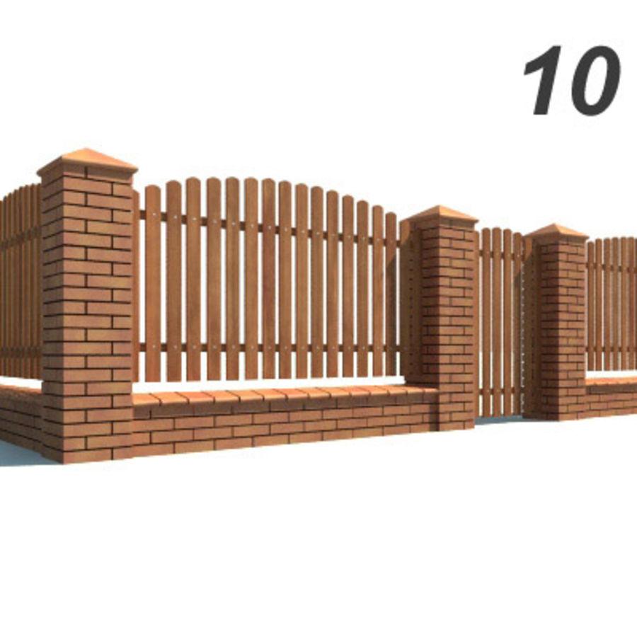 Drewniana kolekcja ogrodzeń royalty-free 3d model - Preview no. 30