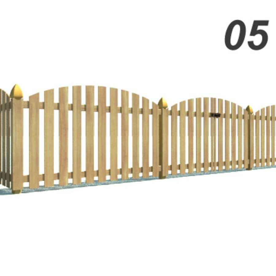 Drewniana kolekcja ogrodzeń royalty-free 3d model - Preview no. 15
