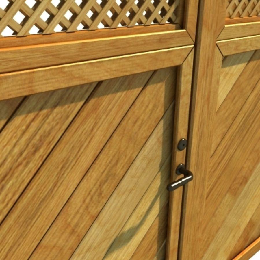 Drewniana kolekcja ogrodzeń royalty-free 3d model - Preview no. 12