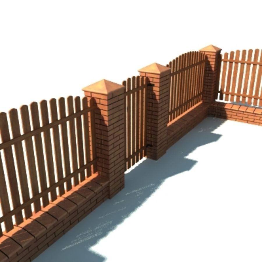 Drewniana kolekcja ogrodzeń royalty-free 3d model - Preview no. 34