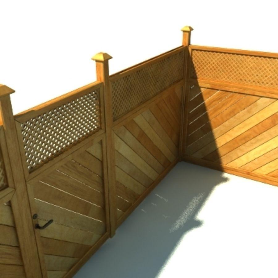 Drewniana kolekcja ogrodzeń royalty-free 3d model - Preview no. 21