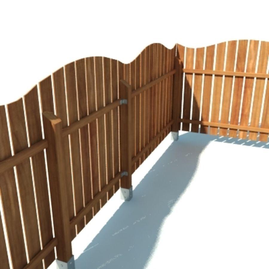 Drewniana kolekcja ogrodzeń royalty-free 3d model - Preview no. 7
