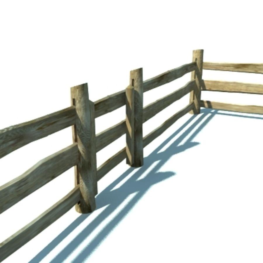 Drewniana kolekcja ogrodzeń royalty-free 3d model - Preview no. 26