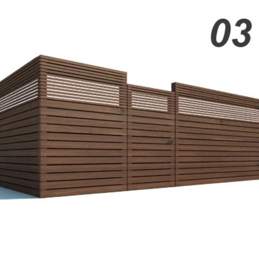 Drewniana kolekcja ogrodzeń royalty-free 3d model - Preview no. 8