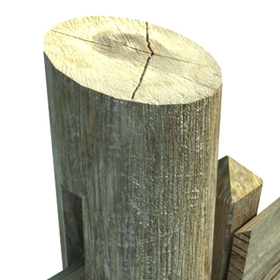 Drewniana kolekcja ogrodzeń royalty-free 3d model - Preview no. 37
