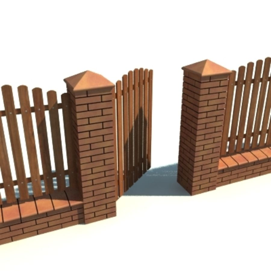 Drewniana kolekcja ogrodzeń royalty-free 3d model - Preview no. 35