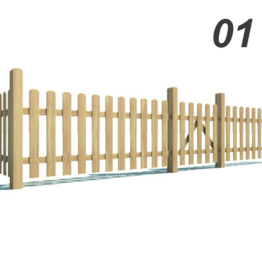 Drewniana kolekcja ogrodzeń royalty-free 3d model - Preview no. 3