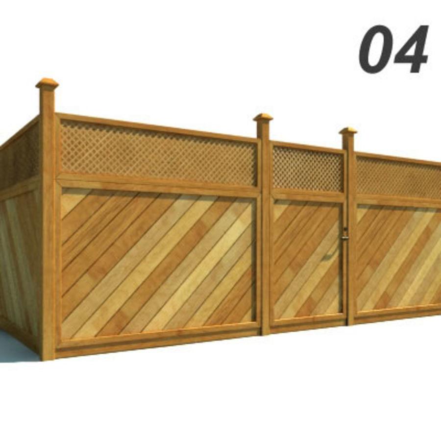 Drewniana kolekcja ogrodzeń royalty-free 3d model - Preview no. 11