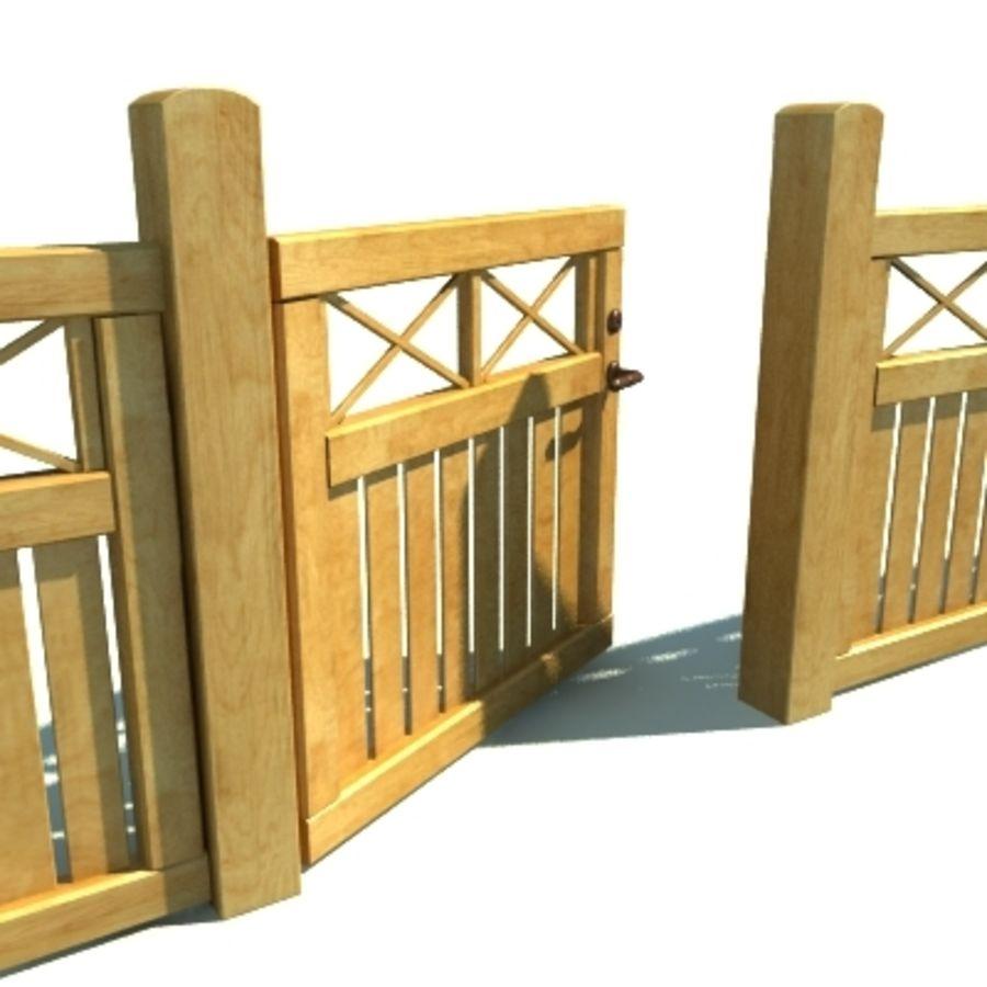 Drewniana kolekcja ogrodzeń royalty-free 3d model - Preview no. 19