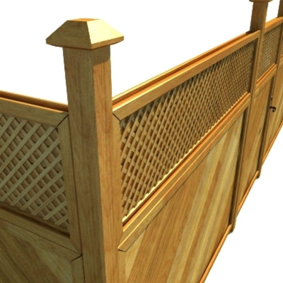 Drewniana kolekcja ogrodzeń royalty-free 3d model - Preview no. 13