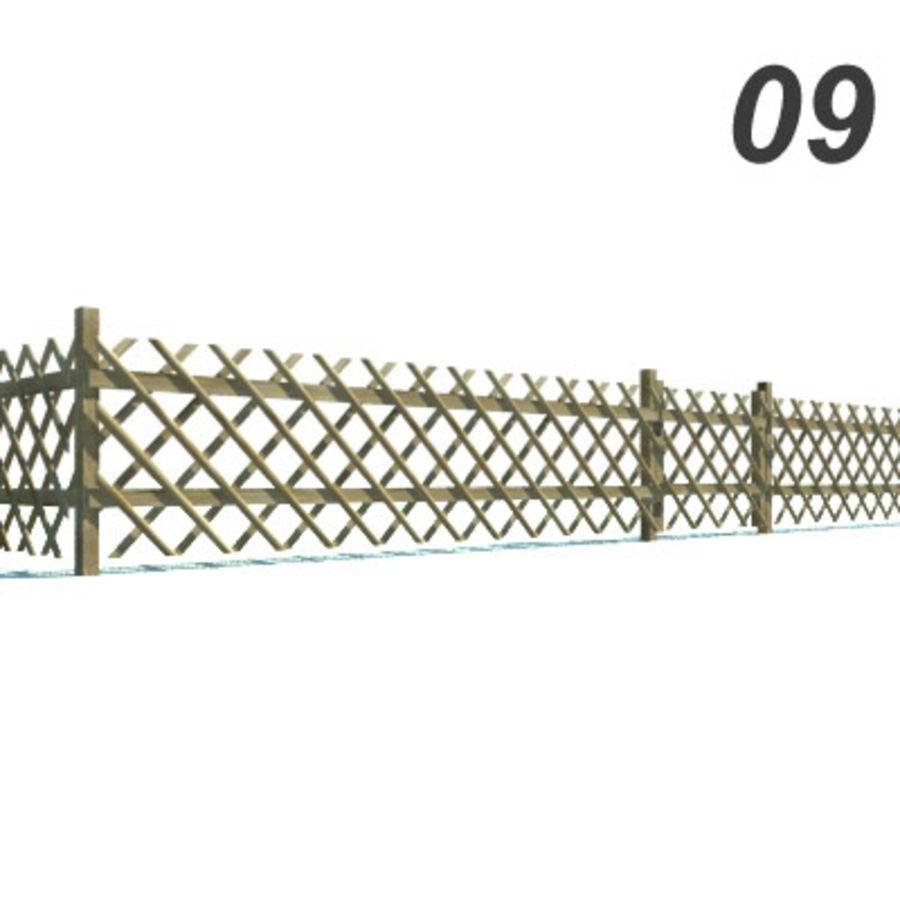 Drewniana kolekcja ogrodzeń royalty-free 3d model - Preview no. 27