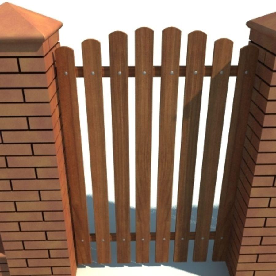 Drewniana kolekcja ogrodzeń royalty-free 3d model - Preview no. 32
