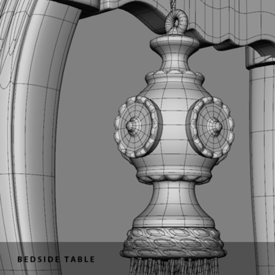 BEDSIDE TABLE royalty-free 3d model - Preview no. 12
