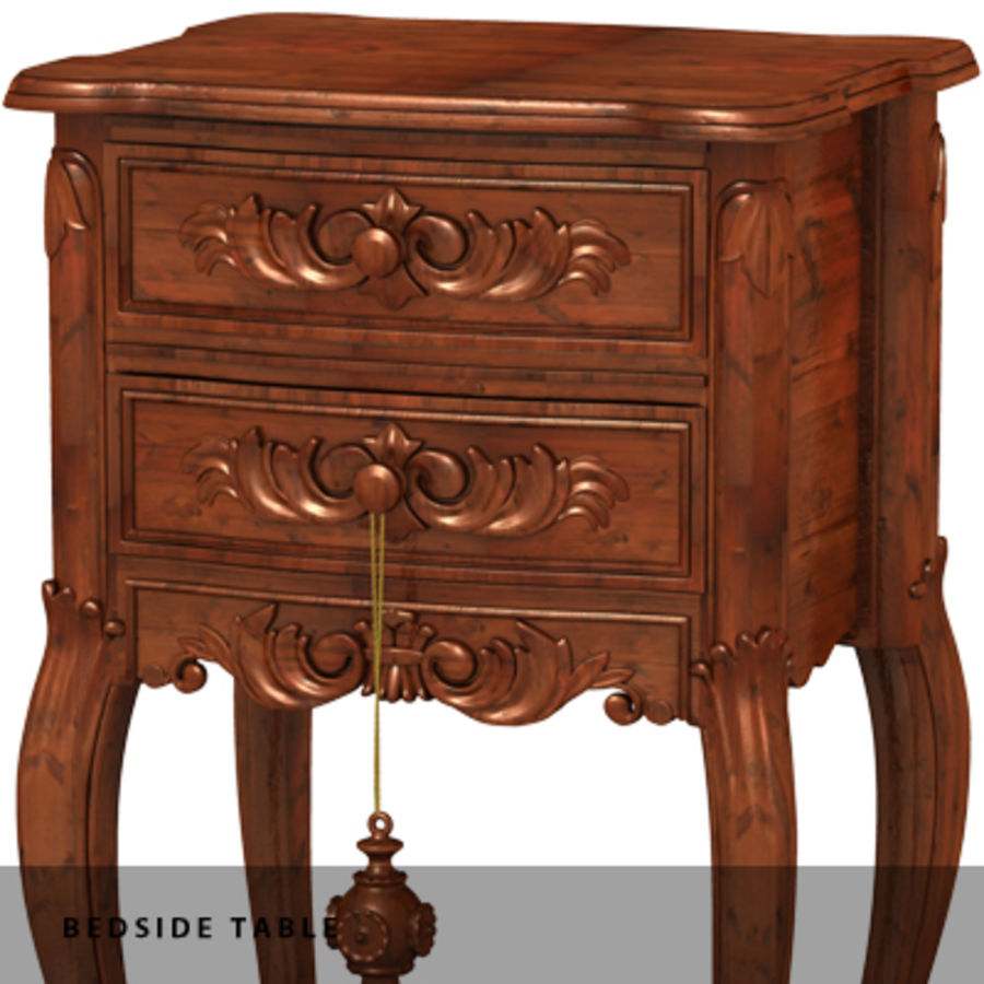 BEDSIDE TABLE royalty-free 3d model - Preview no. 7