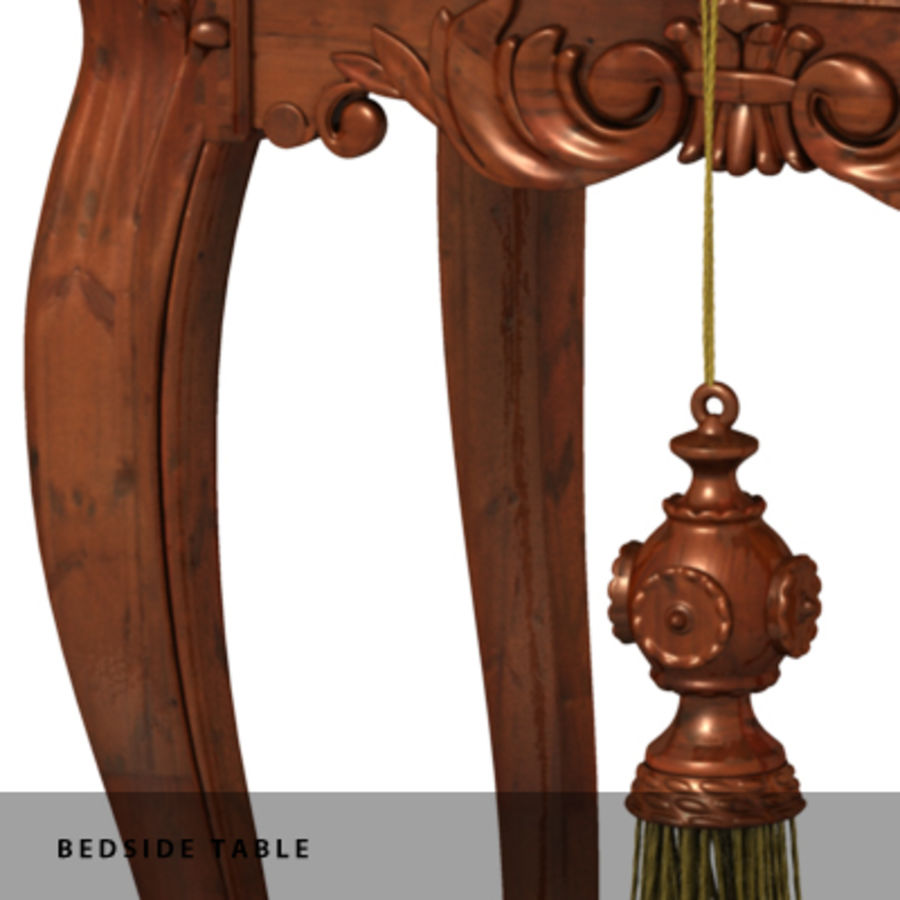 BEDSIDE TABLE royalty-free 3d model - Preview no. 5