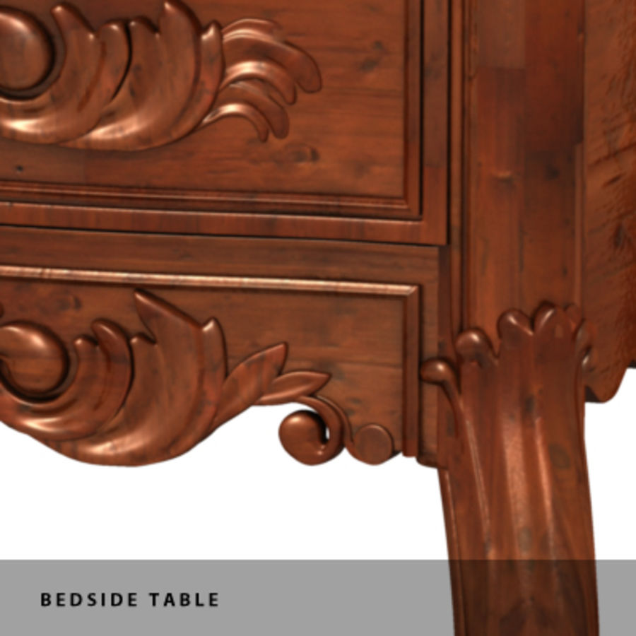 BEDSIDE TABLE royalty-free 3d model - Preview no. 4