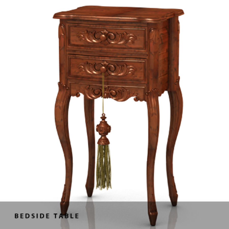 BEDSIDE TABLE royalty-free 3d model - Preview no. 1