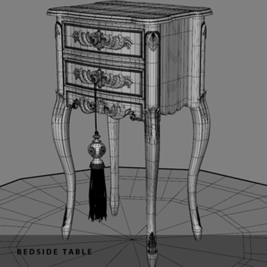 BEDSIDE TABLE royalty-free 3d model - Preview no. 10