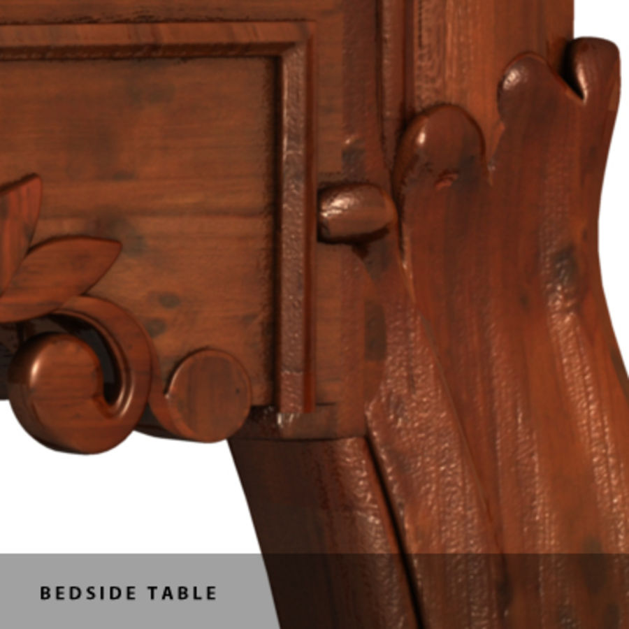 BEDSIDE TABLE royalty-free 3d model - Preview no. 9