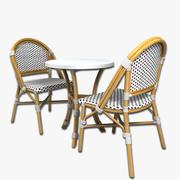 Mesa de café y sillas modelo 3d