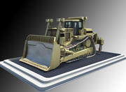 Bulldozer construction equipment 3d model