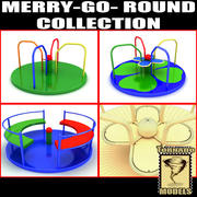 Merry-Go-Round-collectie 3d model