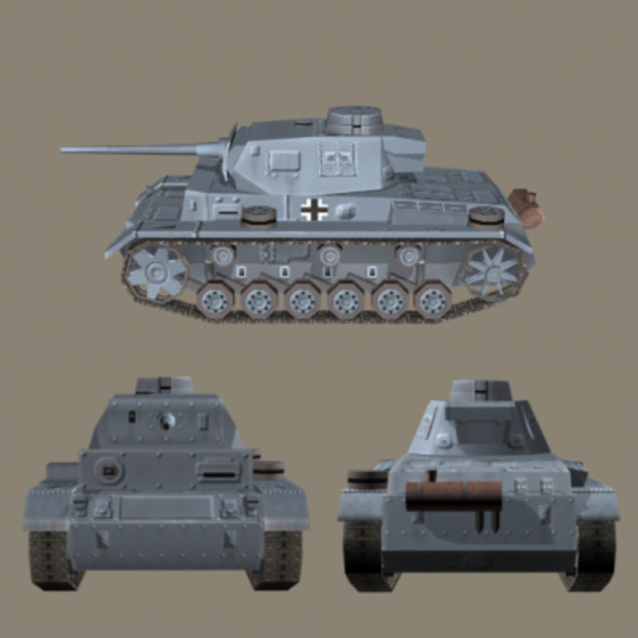 Panzer III Ausf. L (German Tank) royalty-free 3d model - Preview no. 2