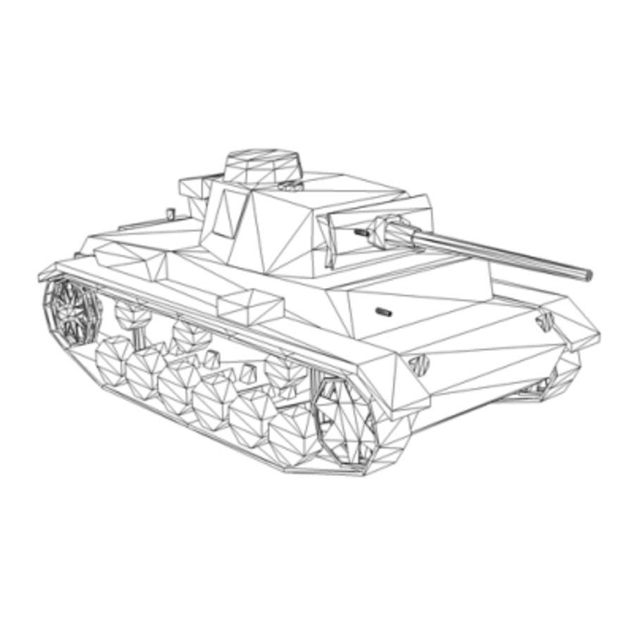 Panzer III Ausf. L (German Tank) royalty-free 3d model - Preview no. 5