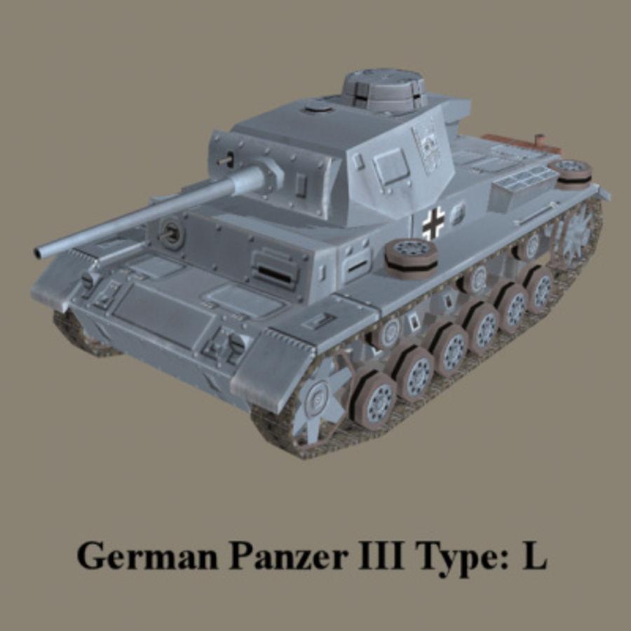 Panzer III Ausf. L (German Tank) royalty-free 3d model - Preview no. 1