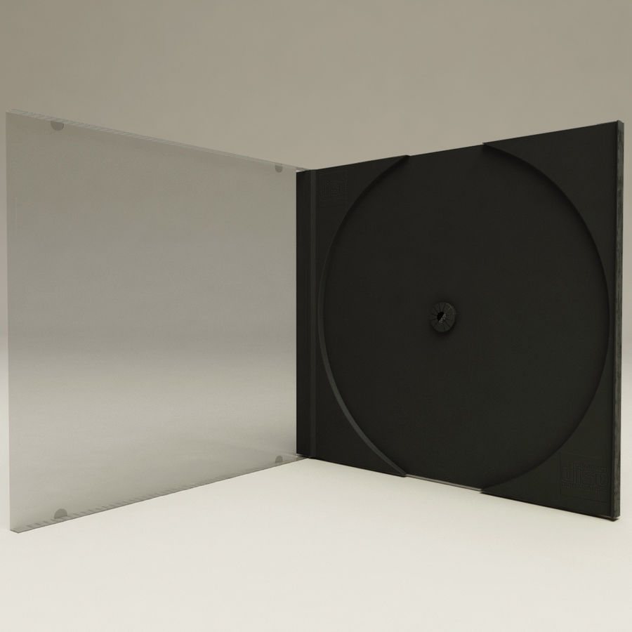 CD Case royalty-free 3d model - Preview no. 6