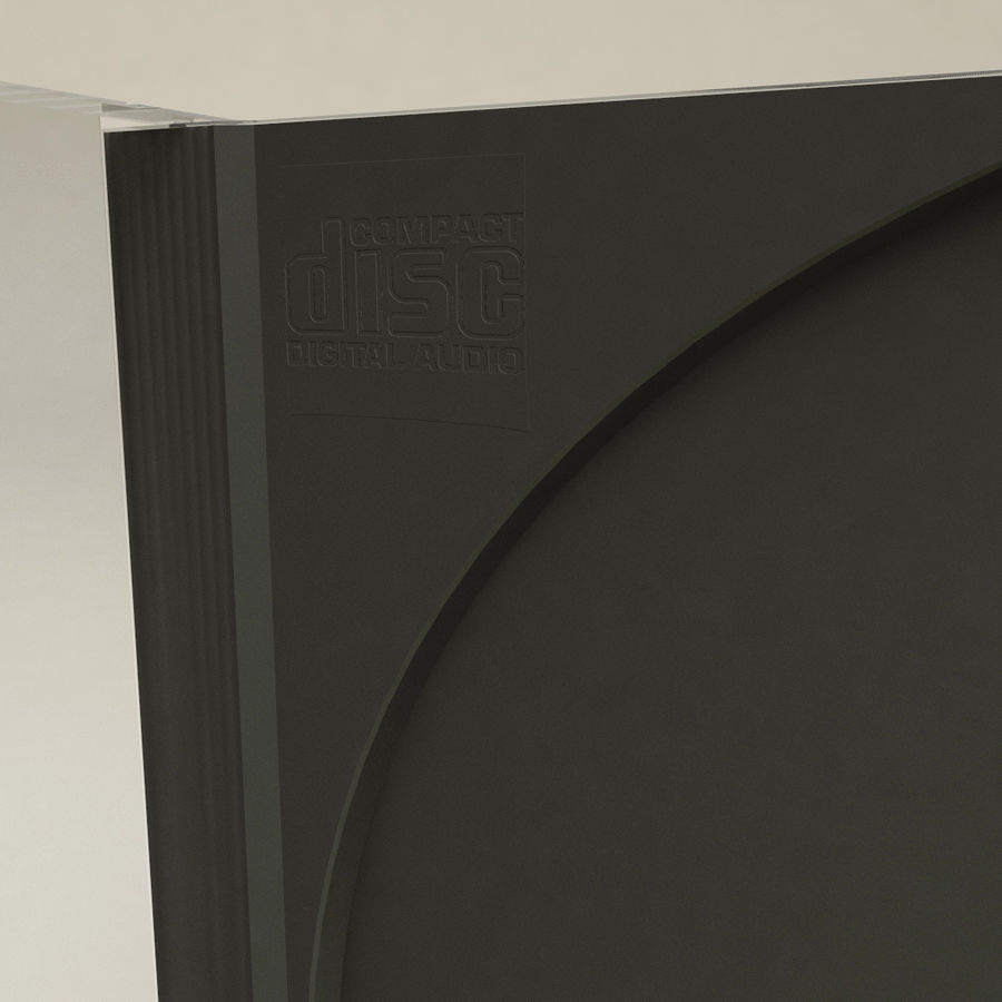 CD Case royalty-free 3d model - Preview no. 8