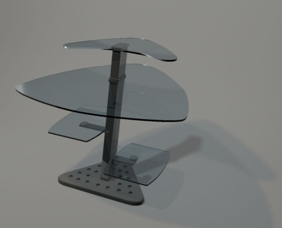 dator skrivbord hörn royalty-free 3d model - Preview no. 1