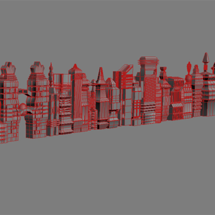 magische Stadt royalty-free 3d model - Preview no. 29