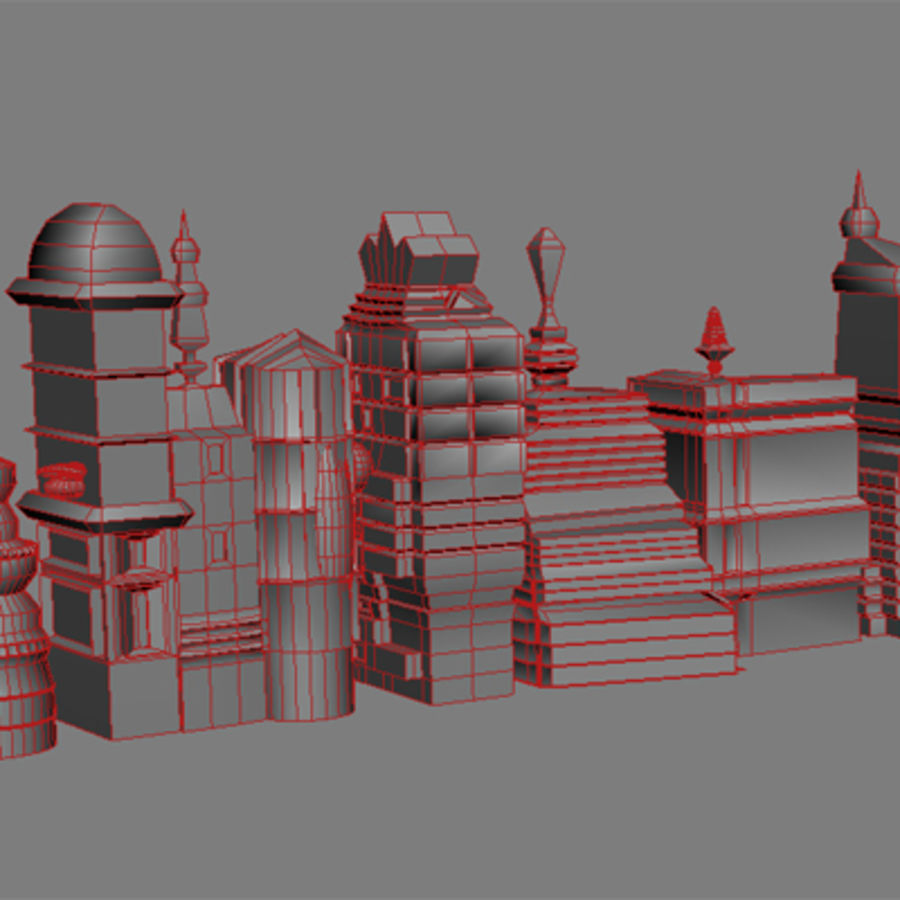 magische Stadt royalty-free 3d model - Preview no. 28