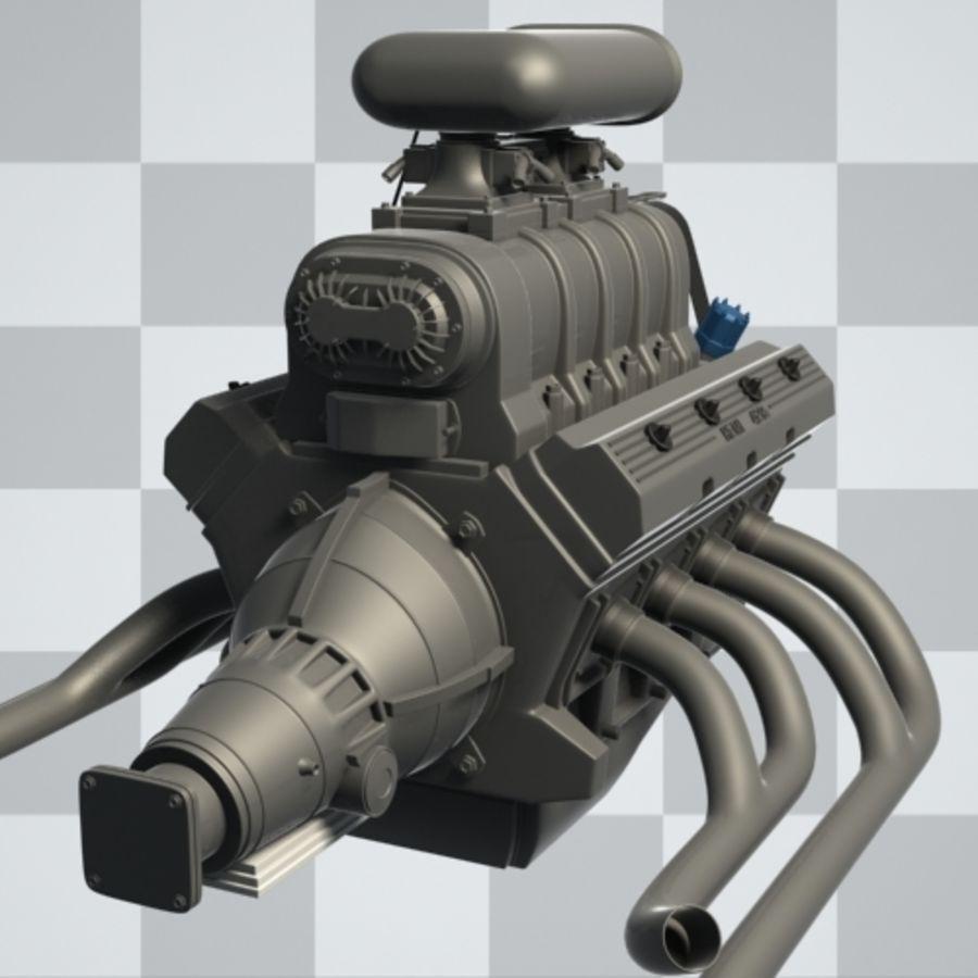 Motor de coche (Hi-Poly) royalty-free modelo 3d - Preview no. 5