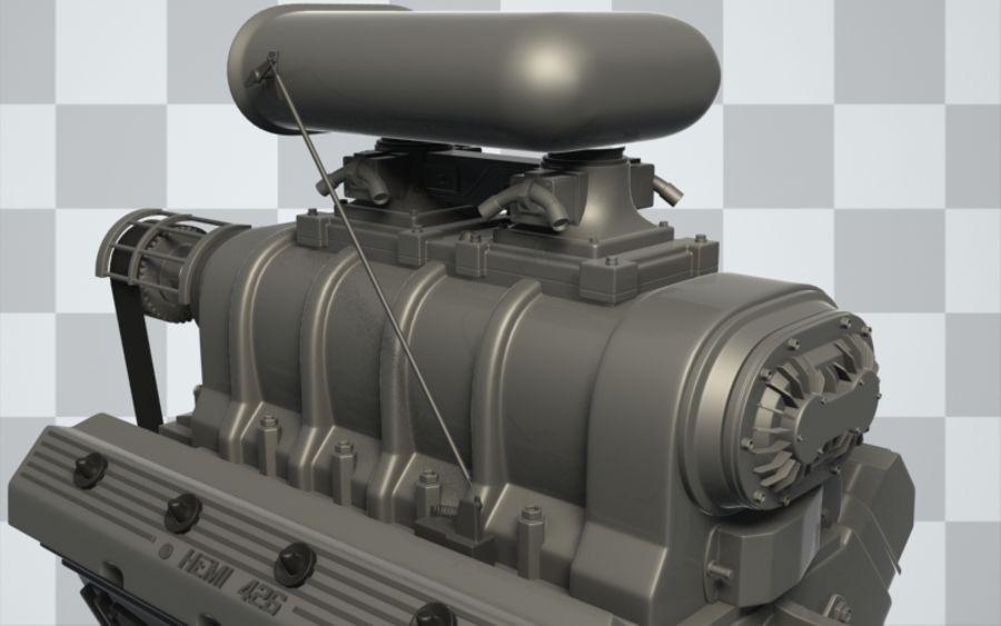 Motor de coche (Hi-Poly) royalty-free modelo 3d - Preview no. 3
